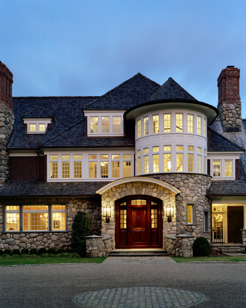 Traditional houses with turrets for Outer doors for homes