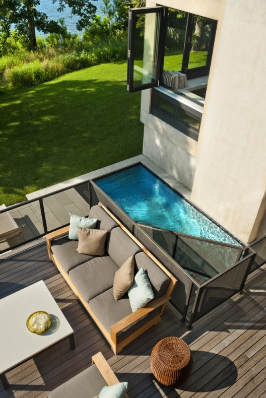 Cabinet section is the idea behind the pool area