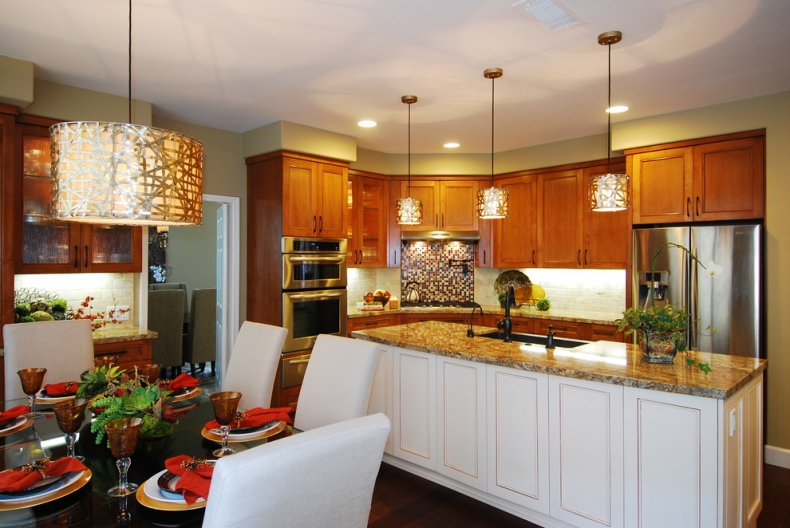 Lavishly decorated contemporary kitchen space