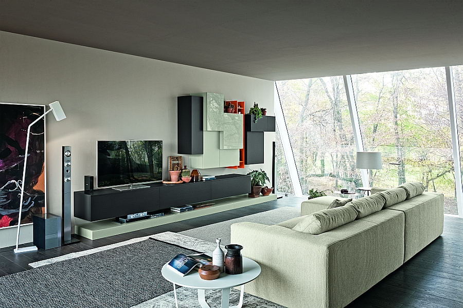 Modern Modular Wall Units For Living Room