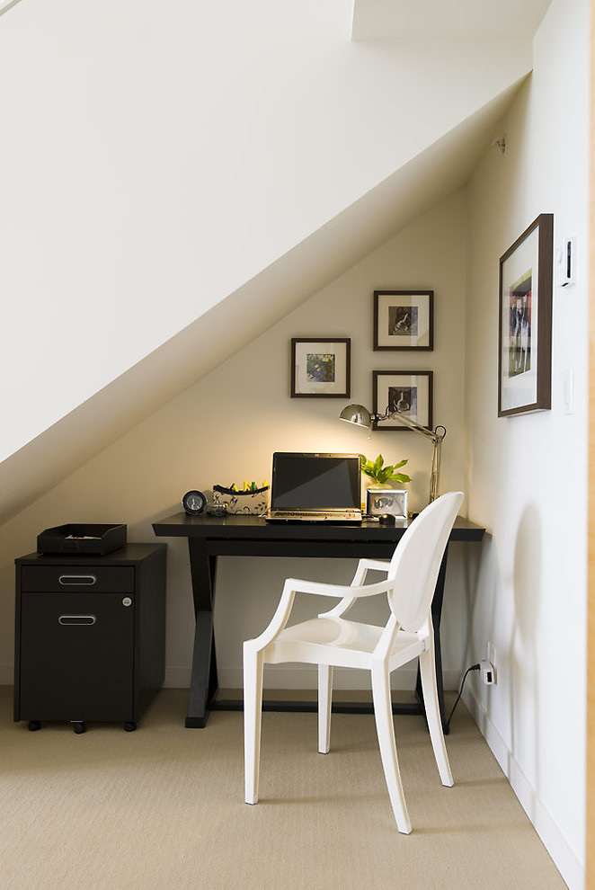 Under-stairs office
