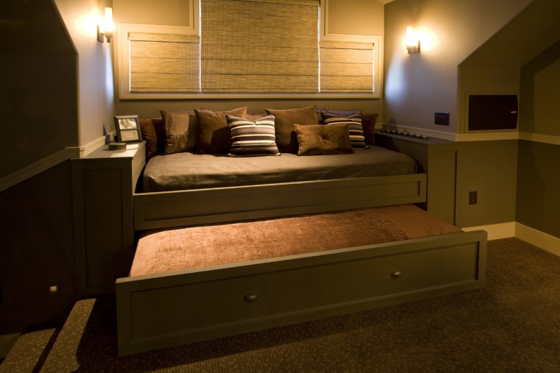 Trundle bed in a very different shade