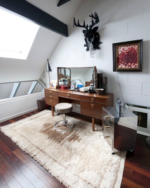 Vintage styled space with similar themed desk