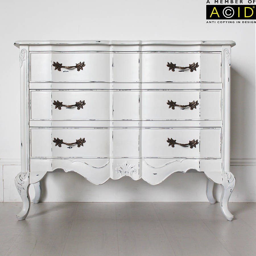 Ripple large three drawer chest