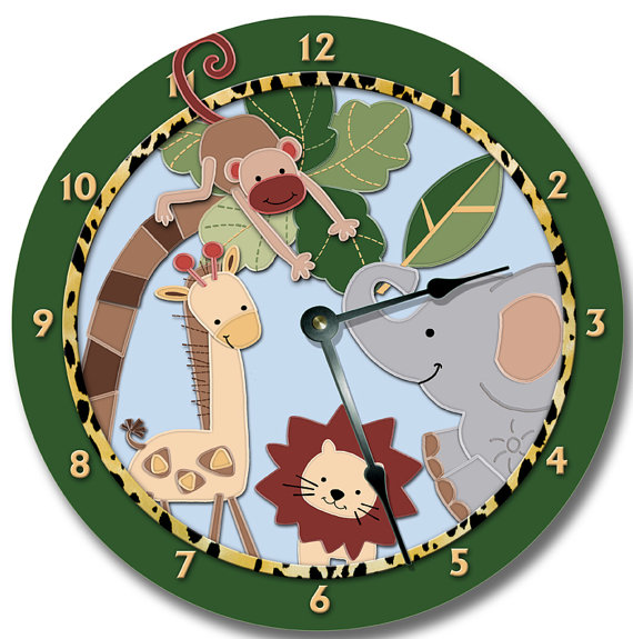 Wall clock for the animal and adventure lover