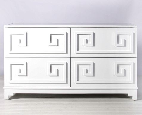 White lacquer chest of drawer