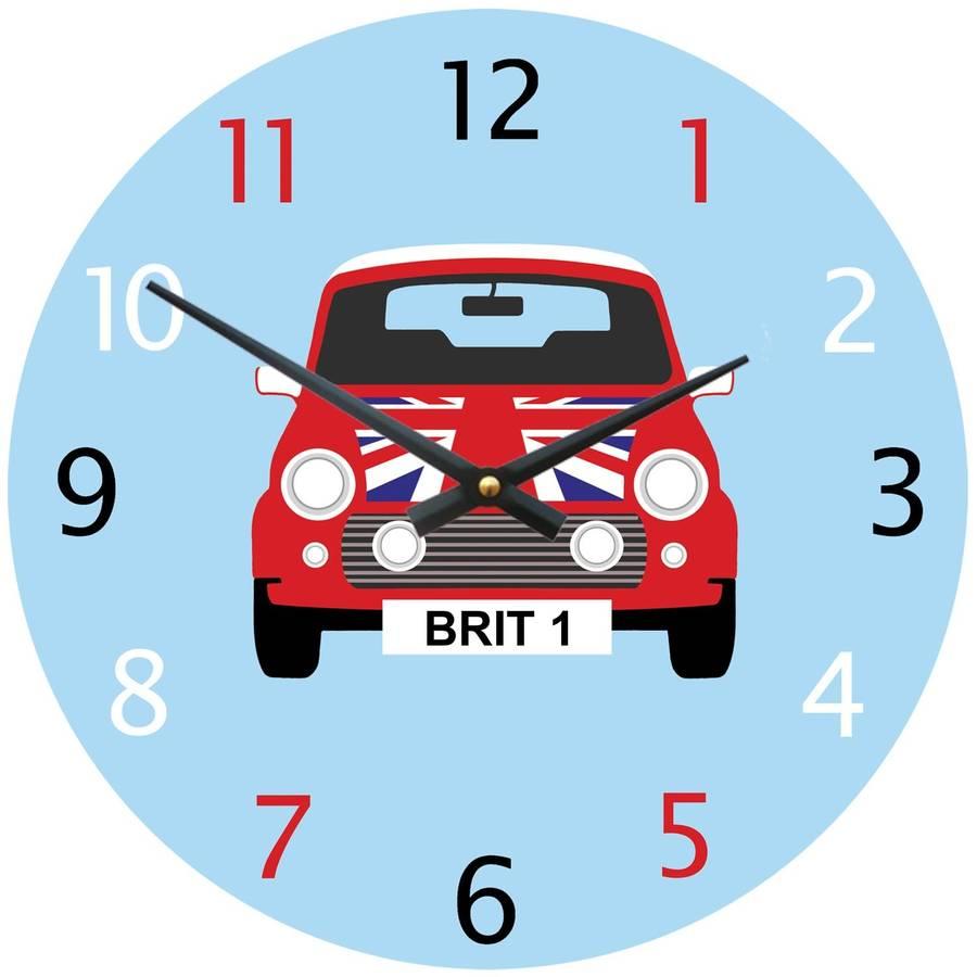 Personalised mini cooper clock