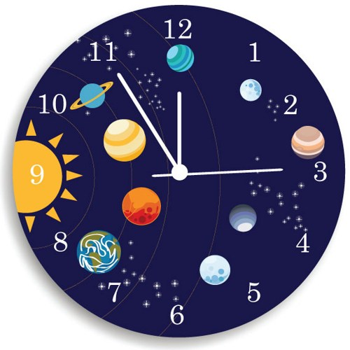 Cool and minimal solar system clock