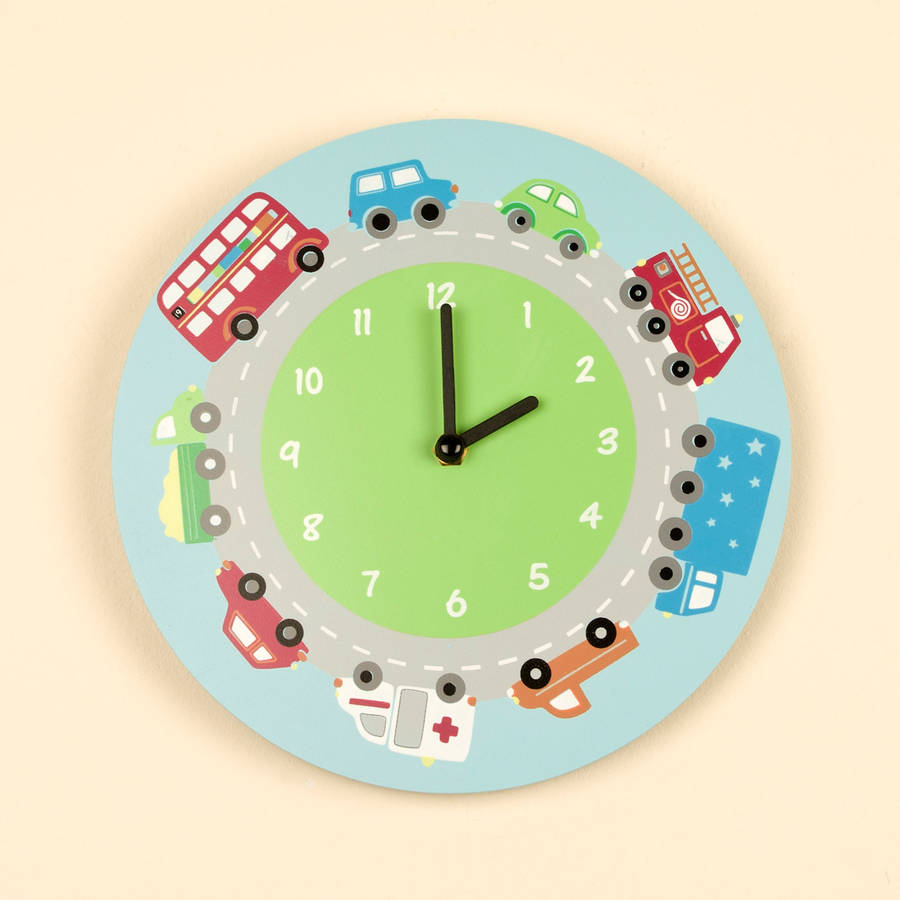 Pastel and bright coloured clock