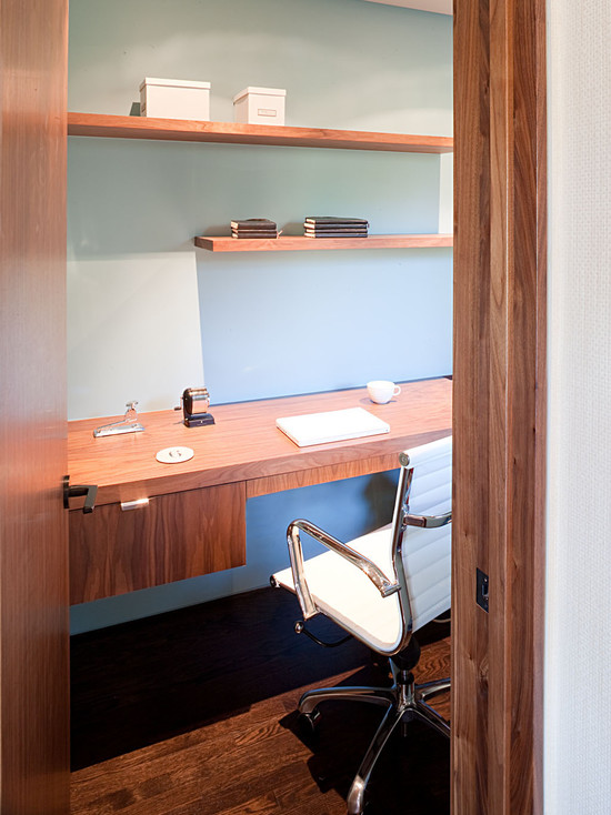 brown wood office furniture