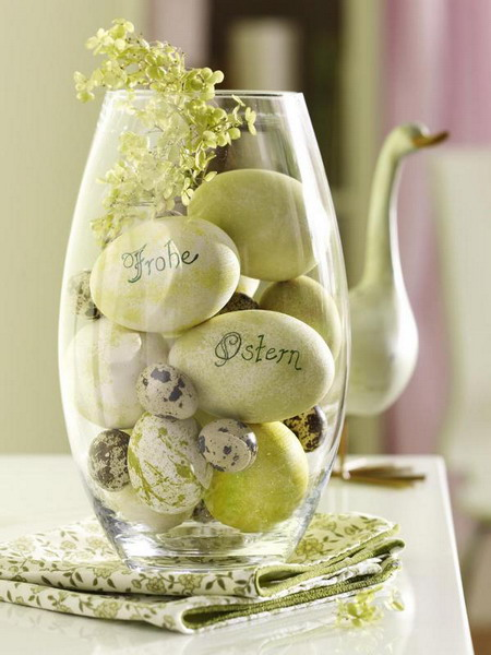 Personalised Eggs in a Vase