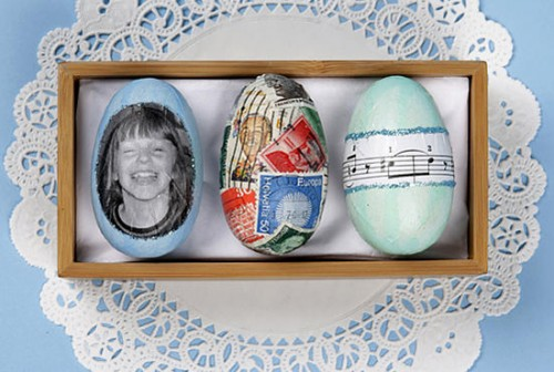 Framed Decorated Easter Eggs