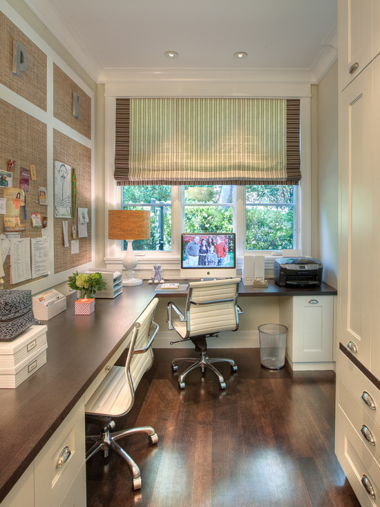 White And brown home office