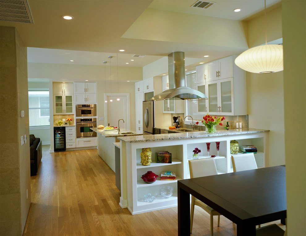 Creating an open kitchen and dining room for Living dining room separation ideas