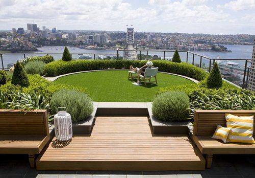 Garden with barrier