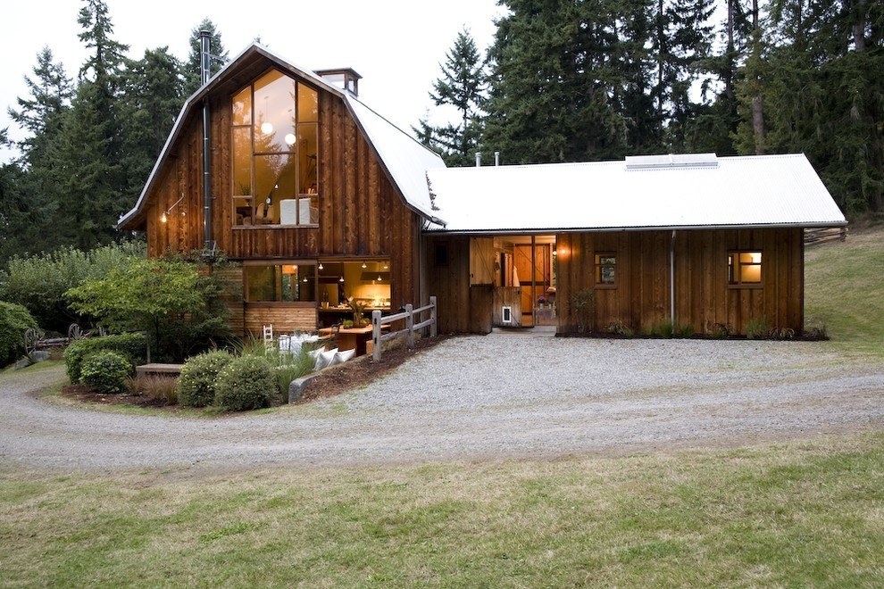 Transform an old barn into a beautiful, contemporary home