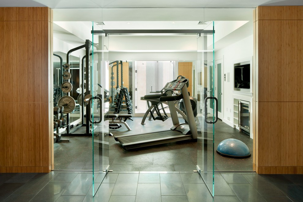 Clean doors to a gym open up your workout