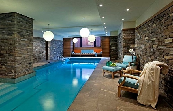 Spacious Modern Indoor Pools For Homes