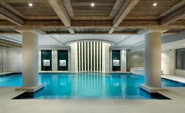 Beautifully lit indoor pool