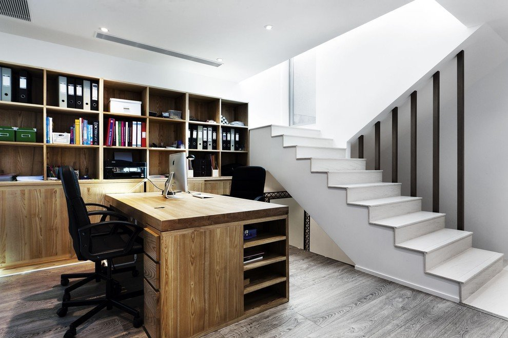 Home office with compact storage