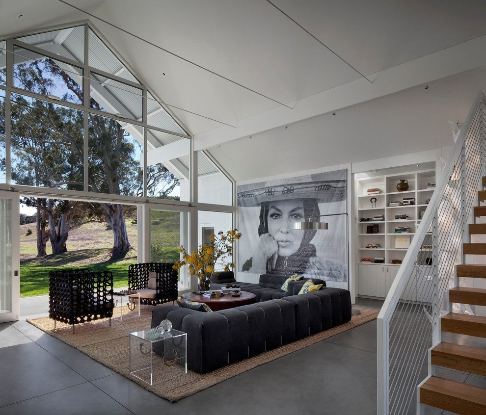 Hupomone Ranch was transformed into a contemporary, self-efficient home