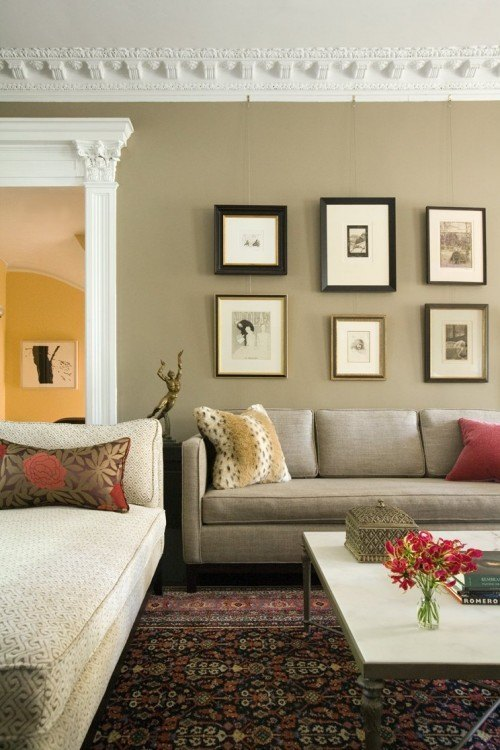 Living room with picture decor