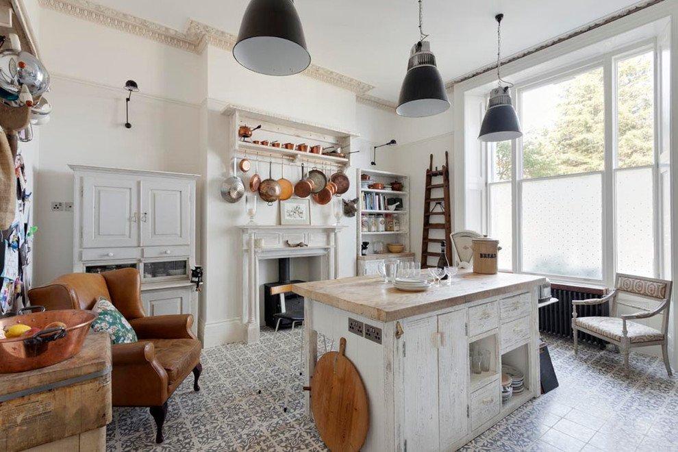 White dominated kitchen