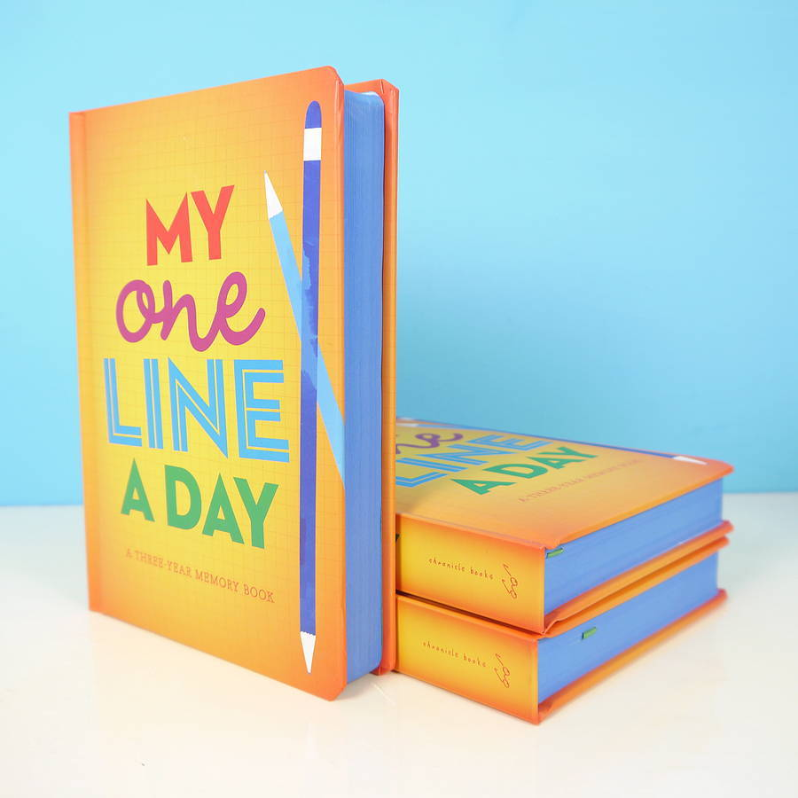 One line a day kids three year diary