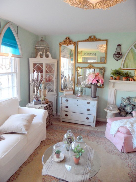 Mirrors are a fantastic shabby chic features