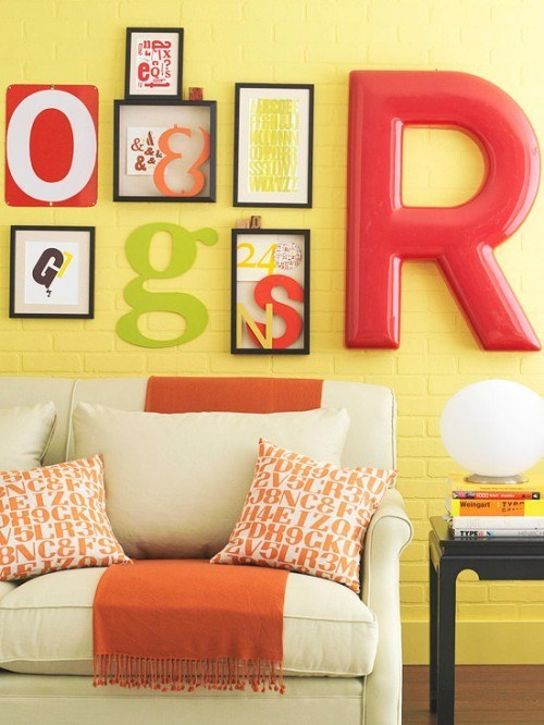 Colorful picture decor