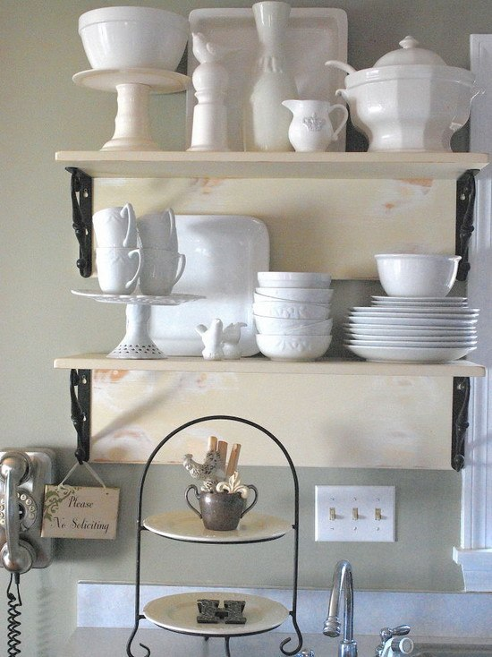 True shabby chic charm lies in the silvery touched pieces