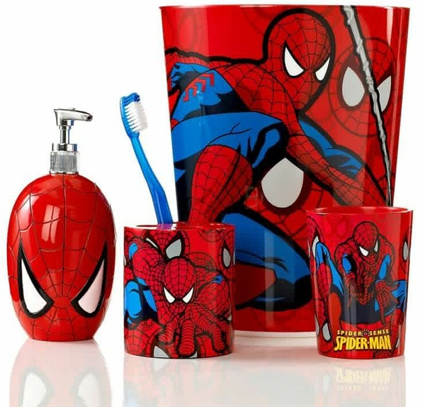 Spiderman bathroom accessories