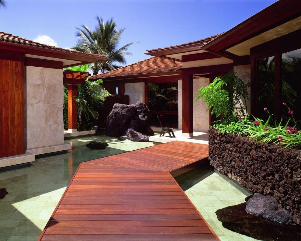 Oriental and Zen style garden