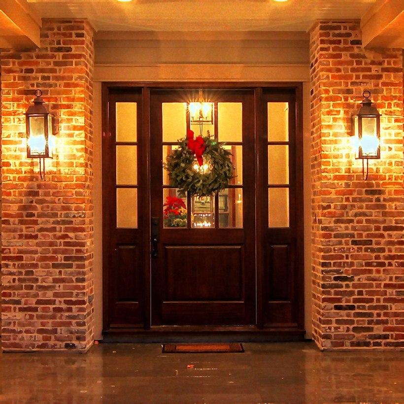 Door with warm colours