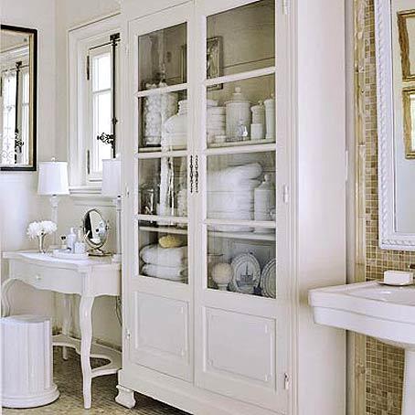 Bathroom with shabby chic closet