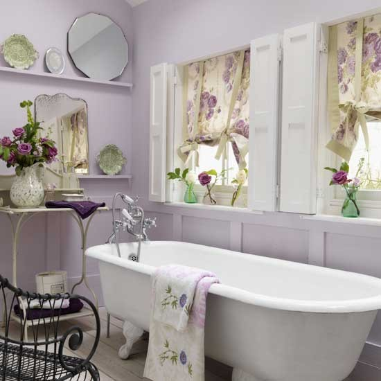 Lilac colored walls