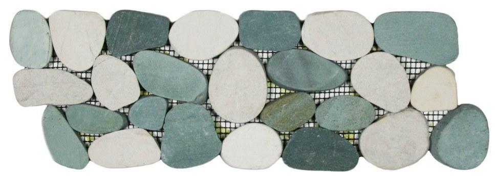 Pebble border tile