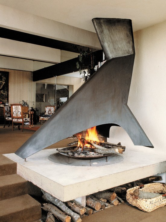 interior designs with fire pit indoor
