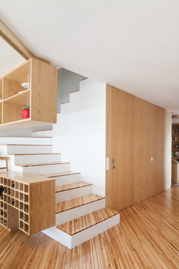 Minimal wooden staircase