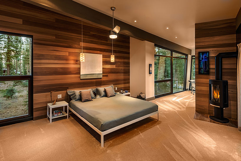 Bedroom with a low bed