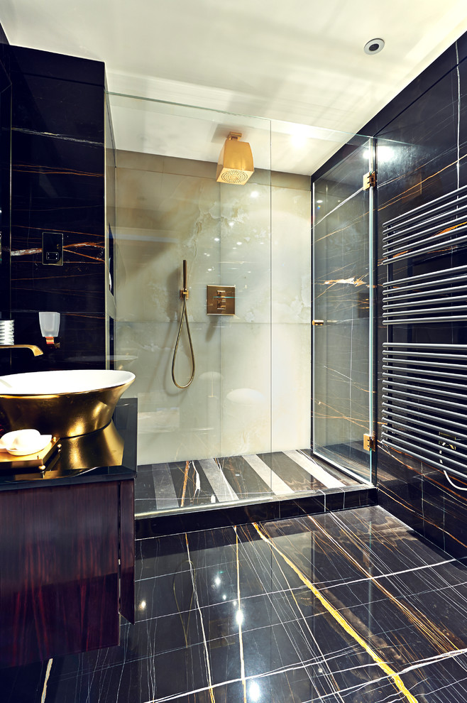 modern golden bathroom
