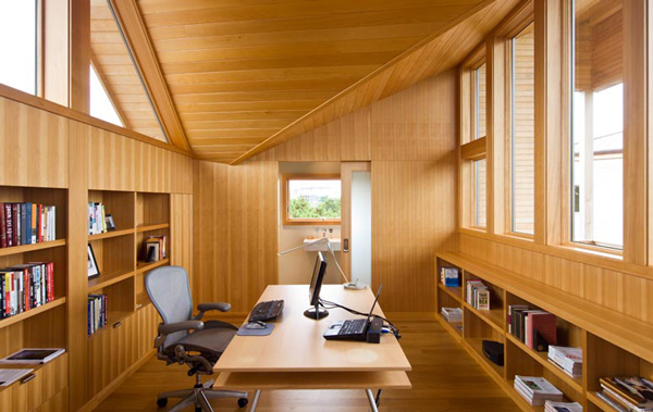 Bright and airy home office