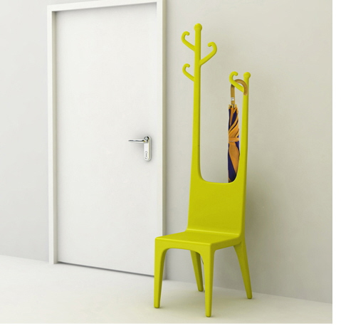 Bright yellow green color chair