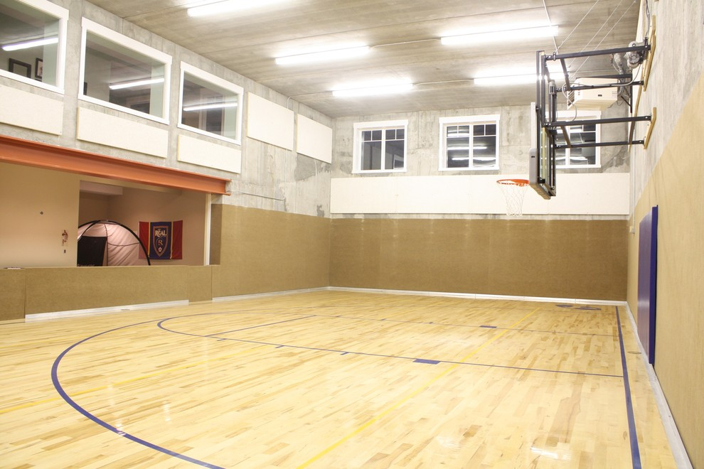 10 basement basketball court ideas for Design indoor basketball court