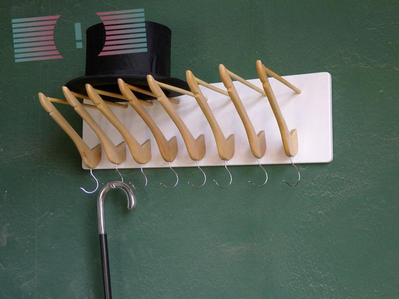 Unfinished wood clothes hangers
