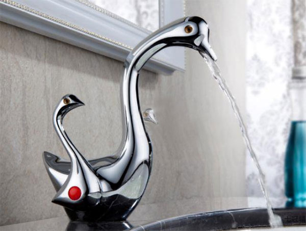 Duck inspired kitchen faucet