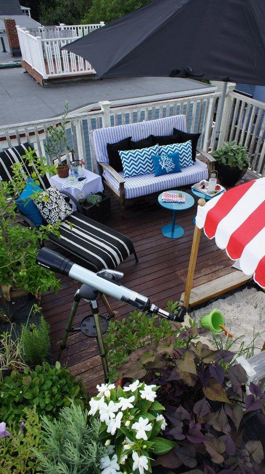 Faburous rooftop garden design