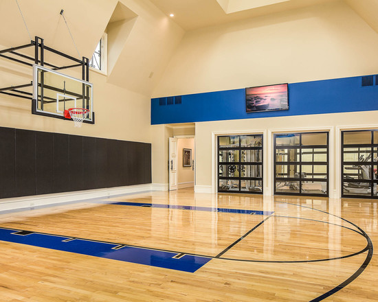 Basement basketball court