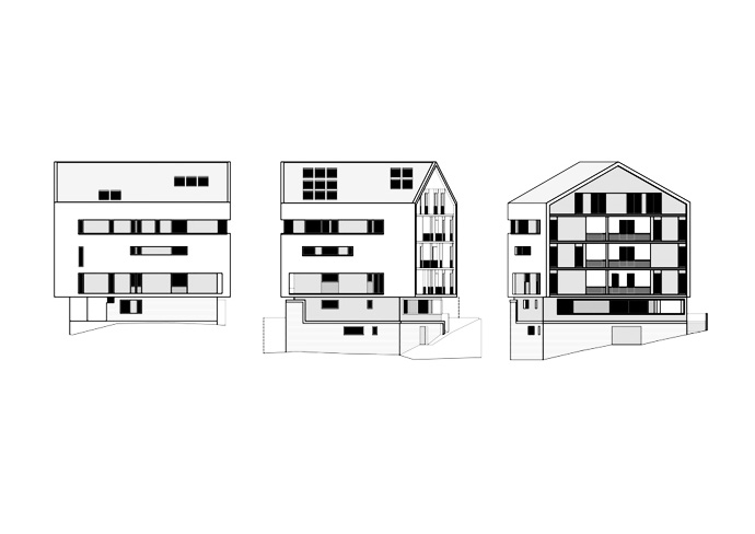 Sides view of the house drawing