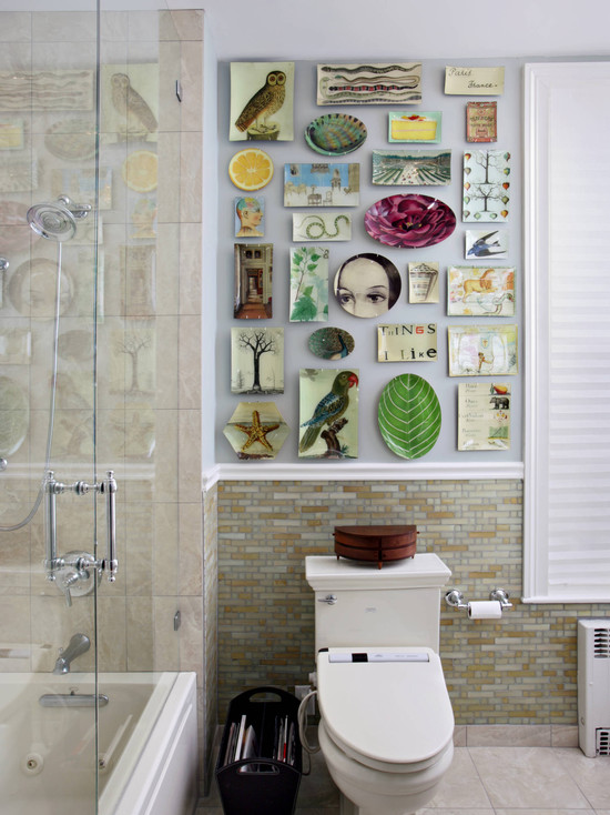 Mismatched ceramic decor idea